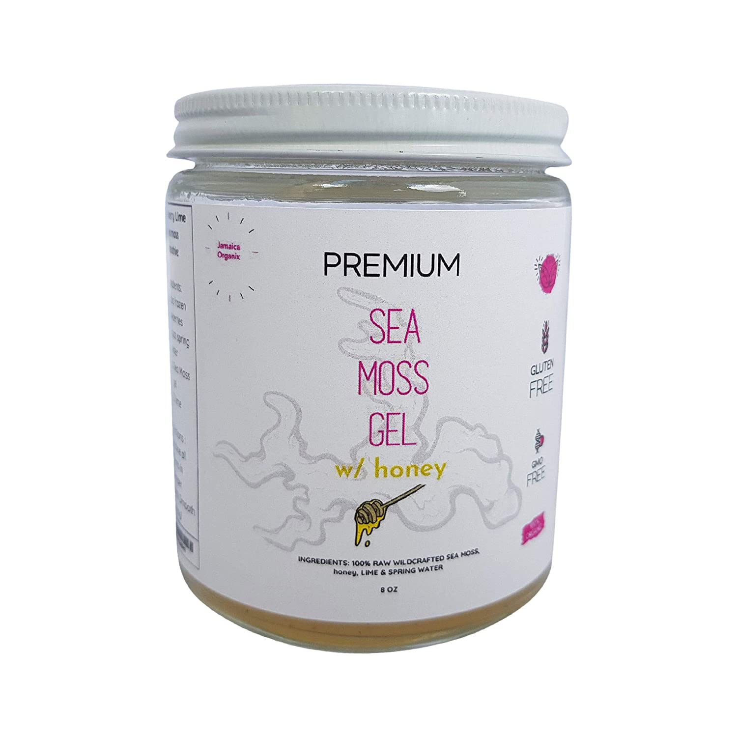 Wildcrafted Sea Moss Gel with Raw Honey, Organic Irish Seamoss with 92 Minerals and Vitamins, Cell Food for Energy, Natural Weight Loss, Digestion, Radiant Skin and More, 8oz