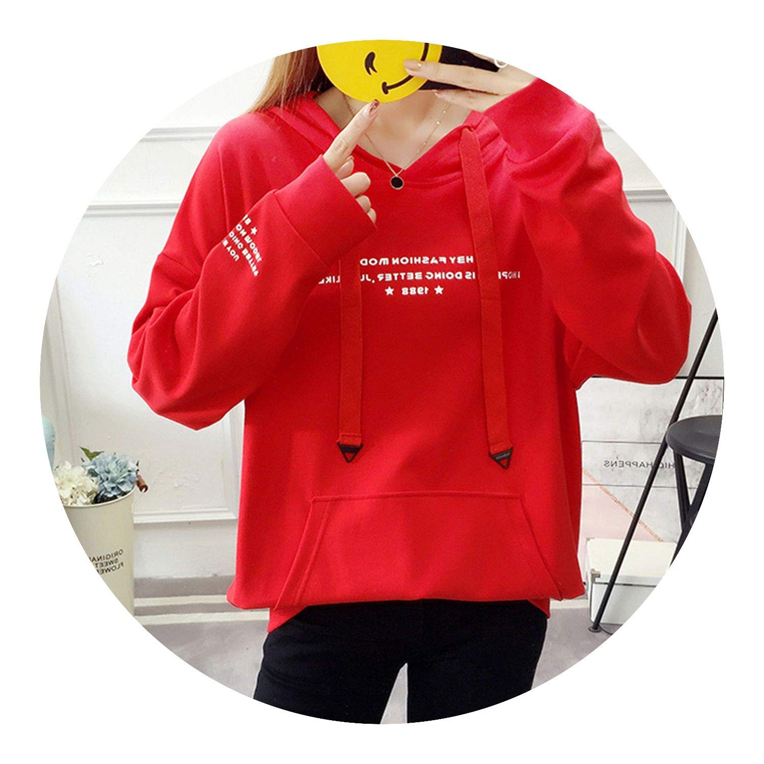 Letter Long SLE Kpop Hoodie Hooded Cool Thin Sweatshirt Loose Casual Moletom M-XXL ping at Amazon Womens Clothing store: