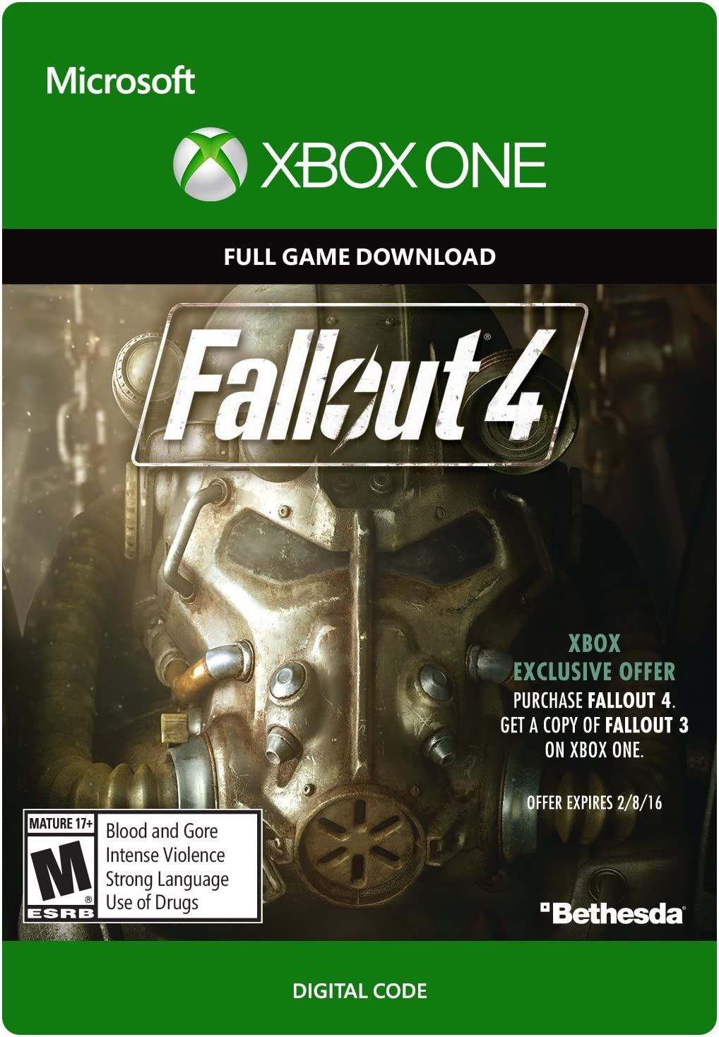 Amazon com: Fallout 4 - Xbox One Digital Code: Video Games
