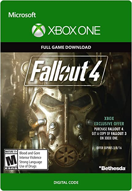 Amazon com: Fallout 4 - Xbox One Digital Code: Video Games