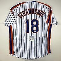 $124 » Autographed/Signed Darryl Strawberry New York Pinstripe Baseball Jersey PSA/DNA COA