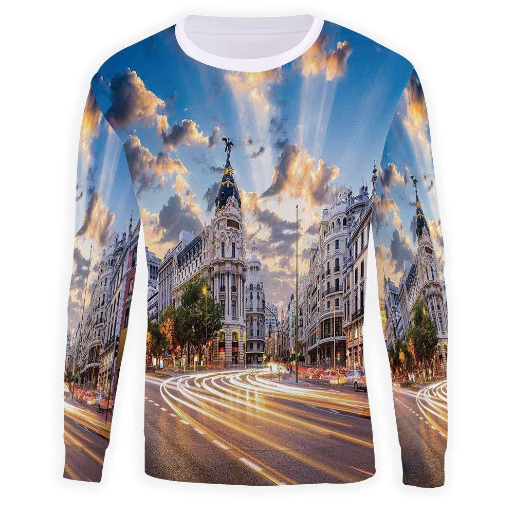 MOOCOM Adult Cityscape Crewneck Sweatshirt