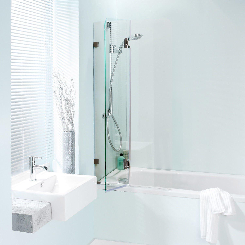 Homcom – Mampara para bañera de cristal templado, de 86 x 150 cm: Amazon.es: Hogar