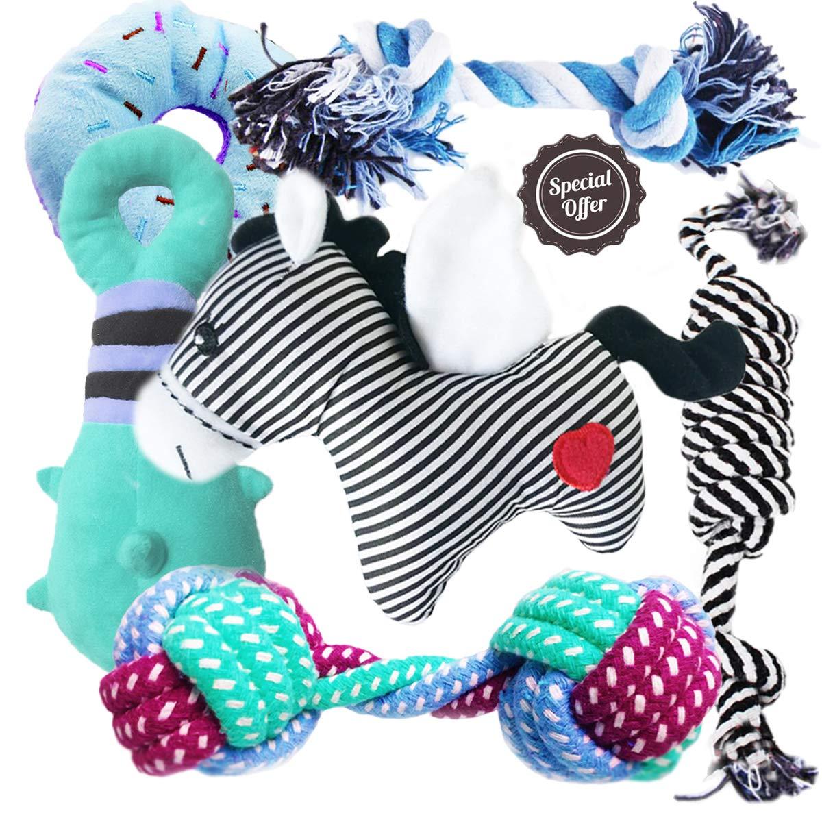BUIBIIU Dog Toys, Dog Teething Toys Best Puppy Chew Toys Dog Chew Toys Squeaky Toys Balls by BUIBIIU