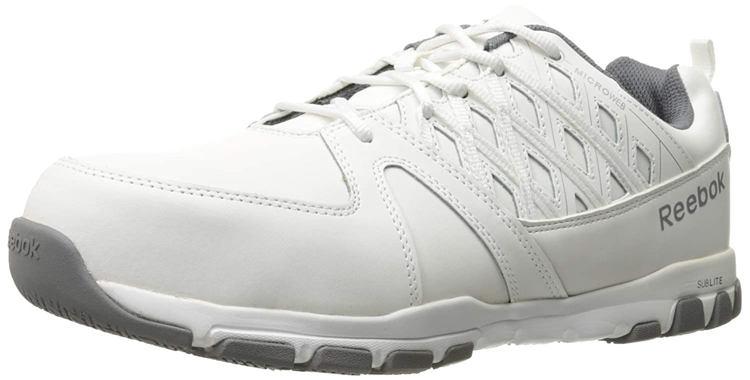 Amazon.com  Reebok Work Men s Sublite Work RB4005 Athletic EH Safety Shoe   Shoes e2ae664ee