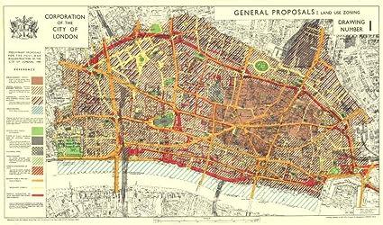 Amazoncom CITY OF LONDON Postwar Reconstruction PROPOSALS LAND