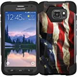 Samsung Galaxy S7 Active / G891 Case - Armatus Gear (TM) Advanced Armor Hybrid Dual Protective Phone Cover (Not Compatible with Samsung Galaxy S7 & S7 Edge) - American Flag