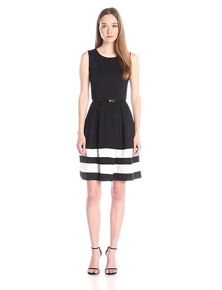 Block dresses black and white