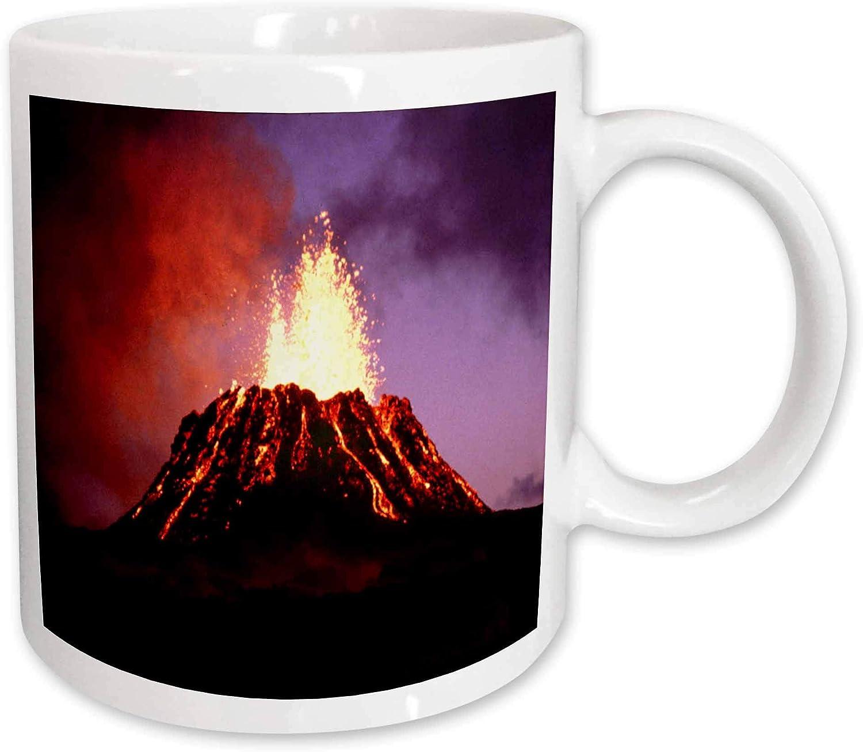 11-Ounce 3E Rose 3dRose Hawaii Volcano Eruption at Night Mug Kitchen mug/_8120/_1
