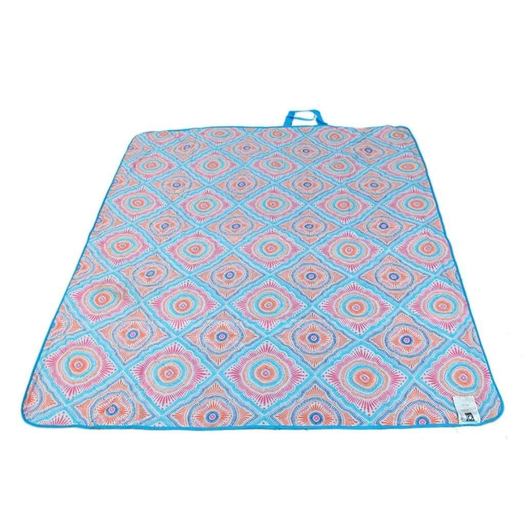 ZKKWLL Picnic Blanket Picnic mat Oxford Cloth Washable Picnic Blanket Waterproof Handle 150 X 180 cm Picnic mat (Color : C) by ZKKWLL