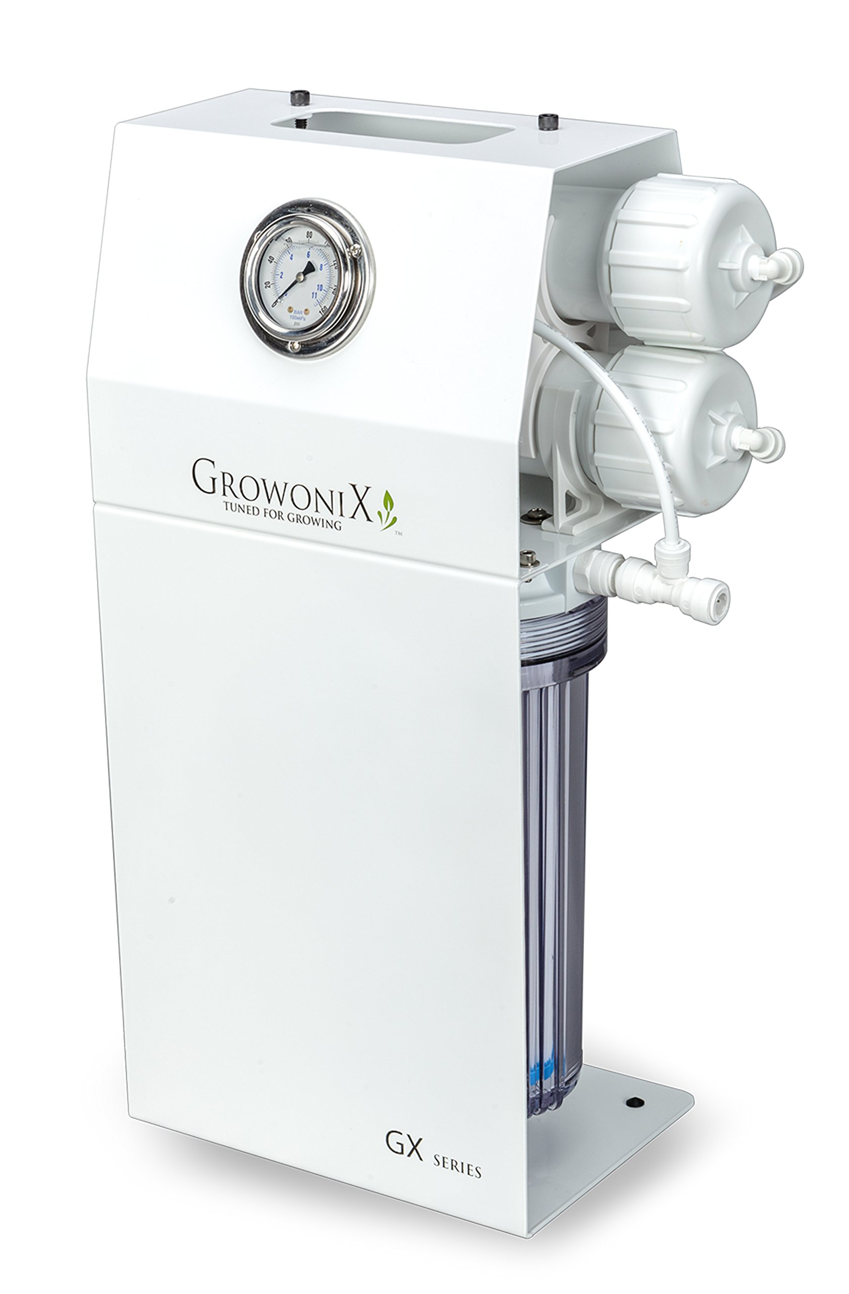 GROWONIX GX400 Reverse Osmosis System Ultra High Flow Rate Water Purification Filter for Hydroponics Gardening Growing Drinking H20 Coffee Point of use On Demand Purifier Most Efficient Eco Water by Growonix
