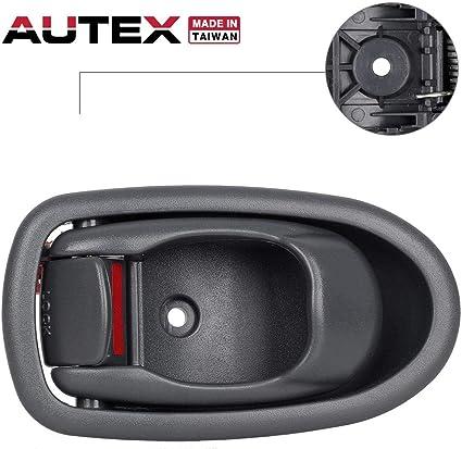 2001-2004 Kia Spectra Driver Side Front Inside Door Handle Grey 0K2N1-59330A96