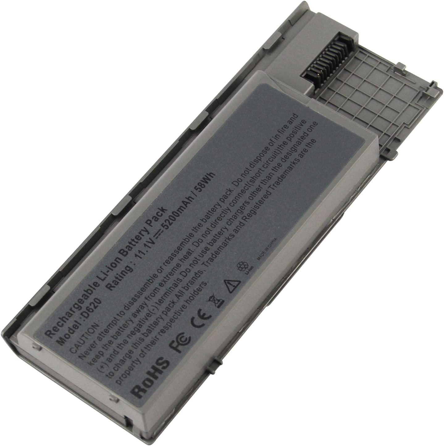 AC Doctor INC Laptop Battery for Dell Latitude D620 Latitude D630 Latitude D630c Latitude D631 Precision M2300, 5200mAh/11.1V/6-Cells