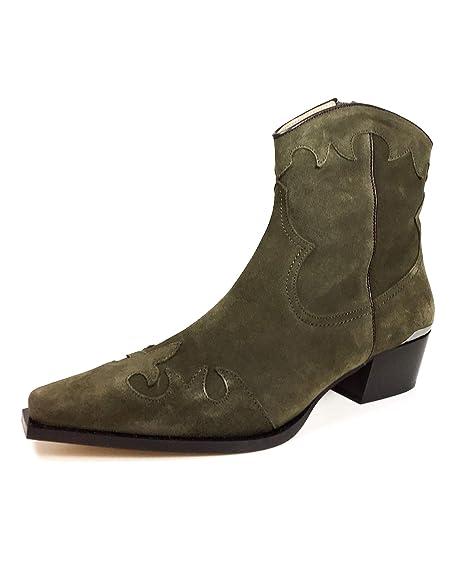 Massimo Dutti - Botas de Ante para Mujer Verde Verde, Color Verde, Talla 35.5: Amazon.es: Zapatos y complementos