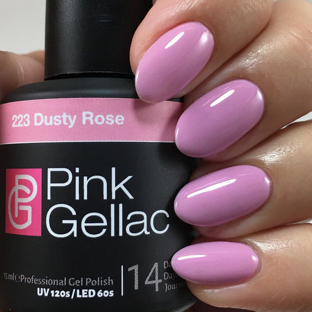 Amazon Com Pink Gellac Uv Nail Polish 223 Dusty Rose Professional