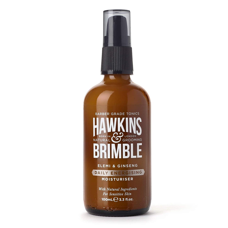 Hawkins & Brimble Mens Daily Energizing Moisturizer 100ml / 3.4 fl oz. - Energising Moisturiser That Hydrates & Revitalises Skin