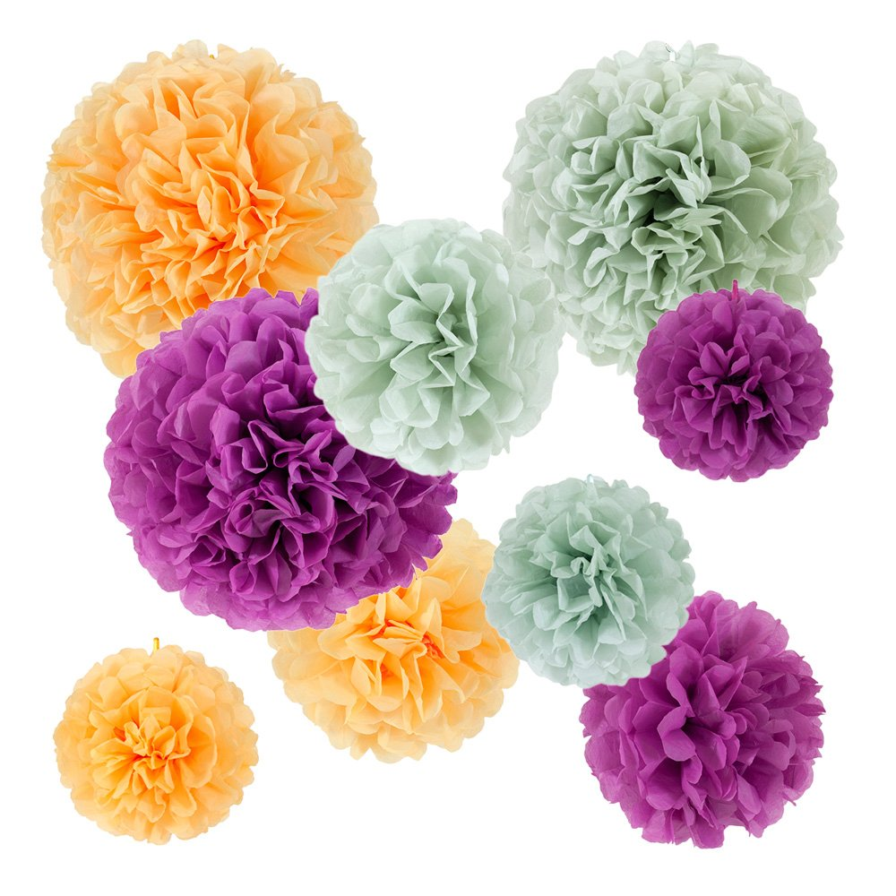 Fabric mie paper pom-poms 9 piece set A 71-5058-00 by Fabric mie