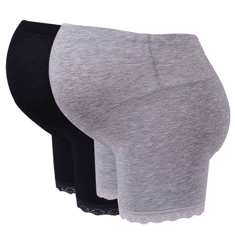Highdas 2pack Pregnant Under Panties Adjustable Soft Comfortable Maternity Over Bump Underwear Shorts