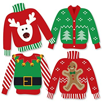 Christmas Party Images Clip Art.Ugly Sweater Sweater Decorations Diy Holiday Christmas Party Essentials Set Of 20