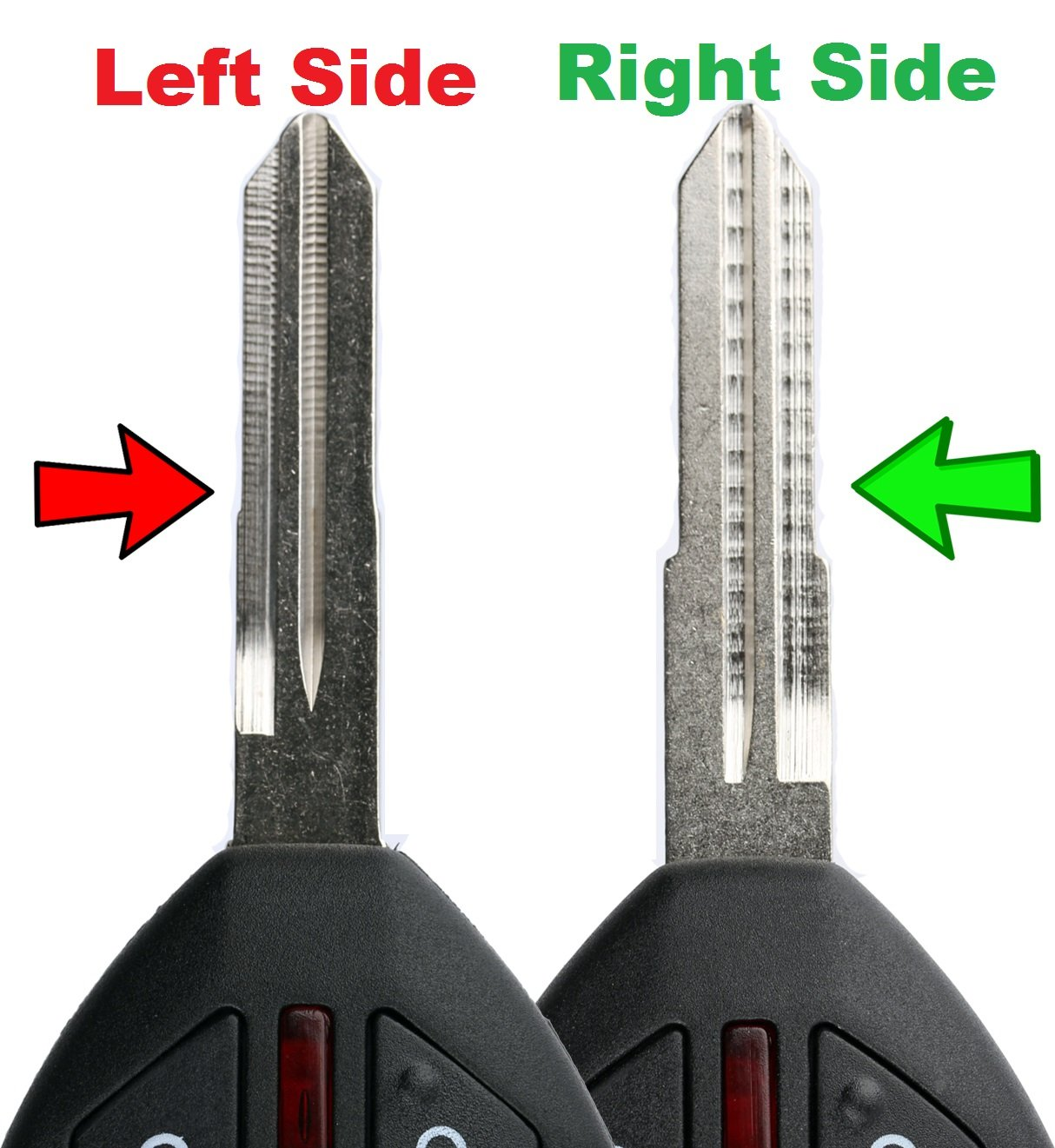 KeylessOption Keyless Entry Remote Uncut Blank Car Key Blade Fob Case Shell Button Pad Outer Cover Repair
