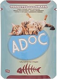 Adoc Naturale Tonno e Orata per gatti adulti, confezione da 20 pezzi