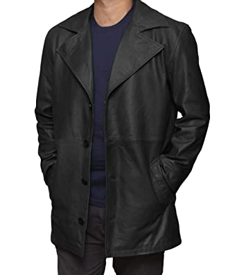 1d3c6e633 Decrum Black Leather Jacket for Men - Lambskin Leather Coat | [1500261]  Jackson Carcoat