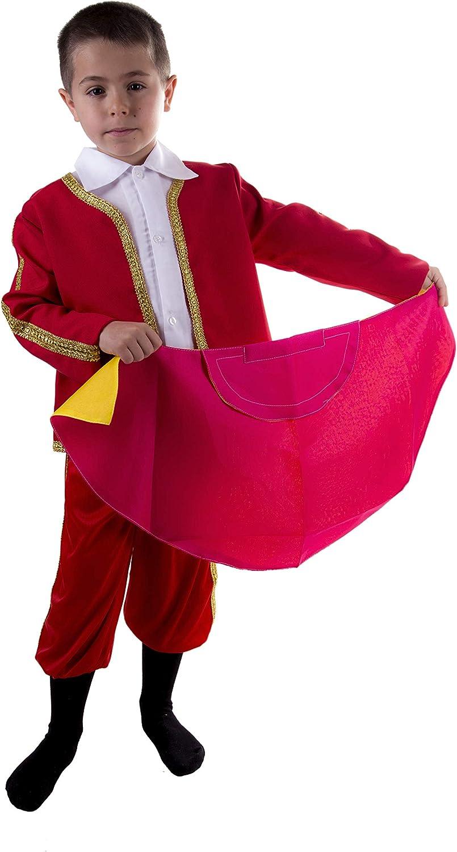 Costumizate! Disfraz de Torero Talla 4-6 Especial para niños Fiestas de Disfraces o Carnaval: Amazon.es: Productos para mascotas