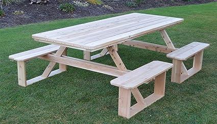 Amazoncom AL Furniture AmishMade Rectangular Cedar WalkIn - Walk in picnic table
