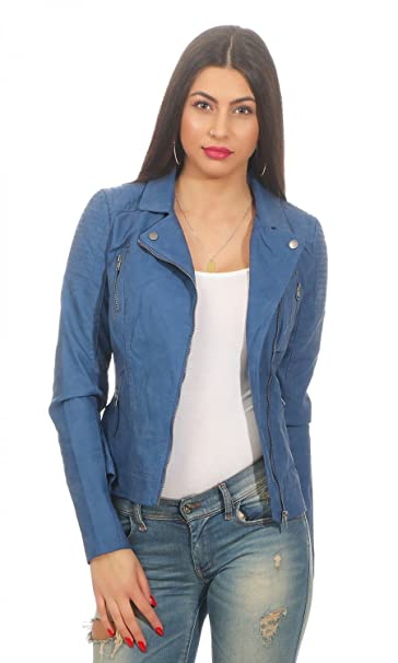 4cc47183085120 Only Onlsteady Faux Leather Biker CC Otw Giacca Donna: Amazon.it:  Abbigliamento