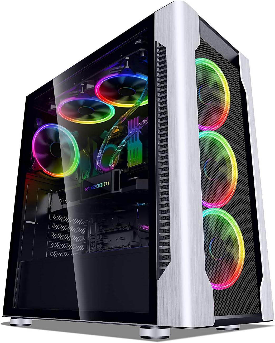 SaharaGaming H600B E-ATX/ATX/M-ATX/ITX. Incluye: Sync ARGB ...