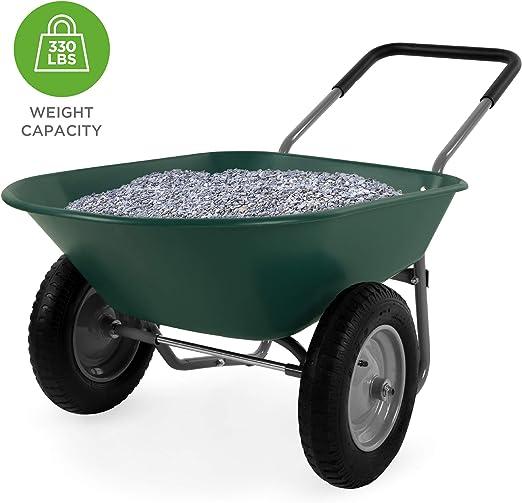 Mejor elección Productos Doble Rueda casa Patio Rover Carretilla jardín Carro: Amazon.es: Jardín