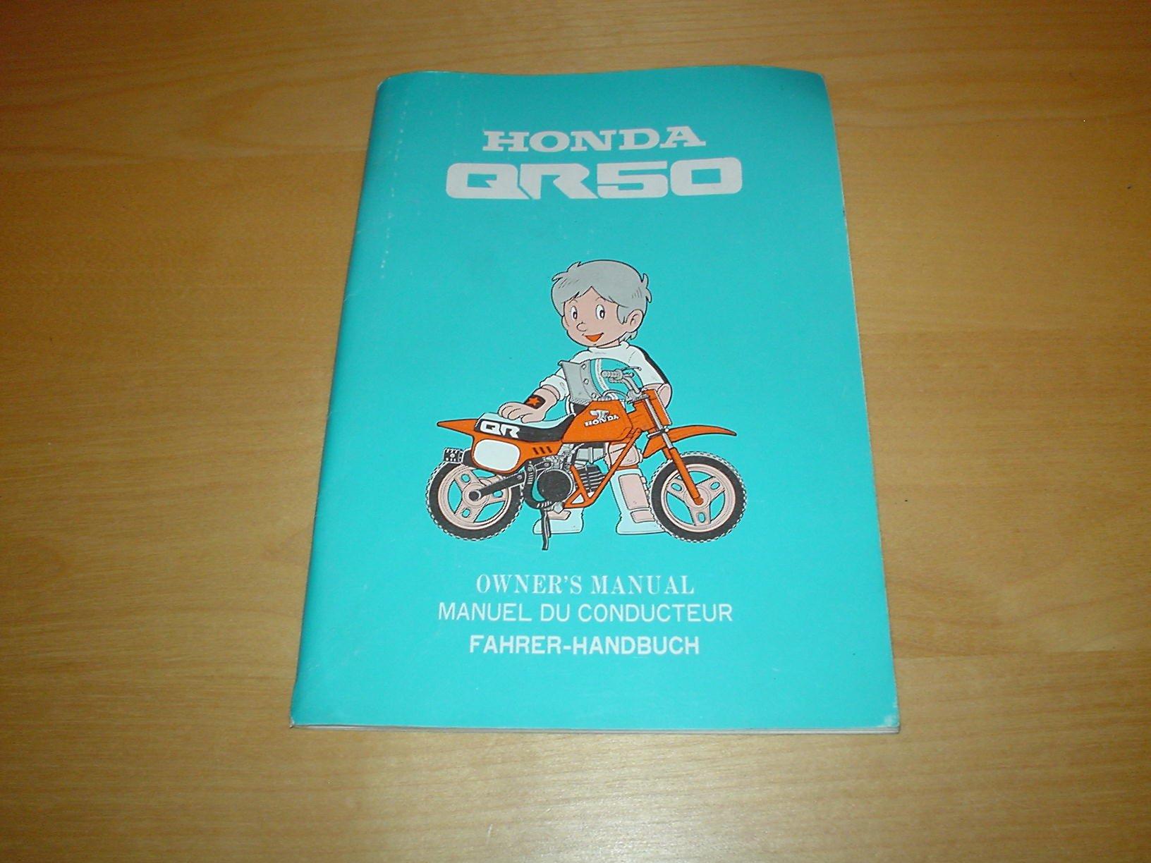 Honda Qr50 Motorcycle Qr 50 Mini Moto 50cc Cc Owners Handbook Wiring Diagram Manual Bike Hand Book Books