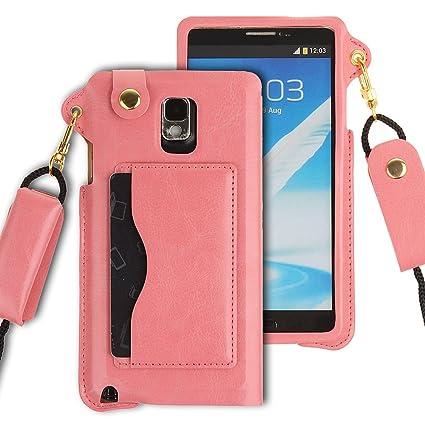 Amazon.com: Funda de piel para Samsung Note 4, Funda para ...
