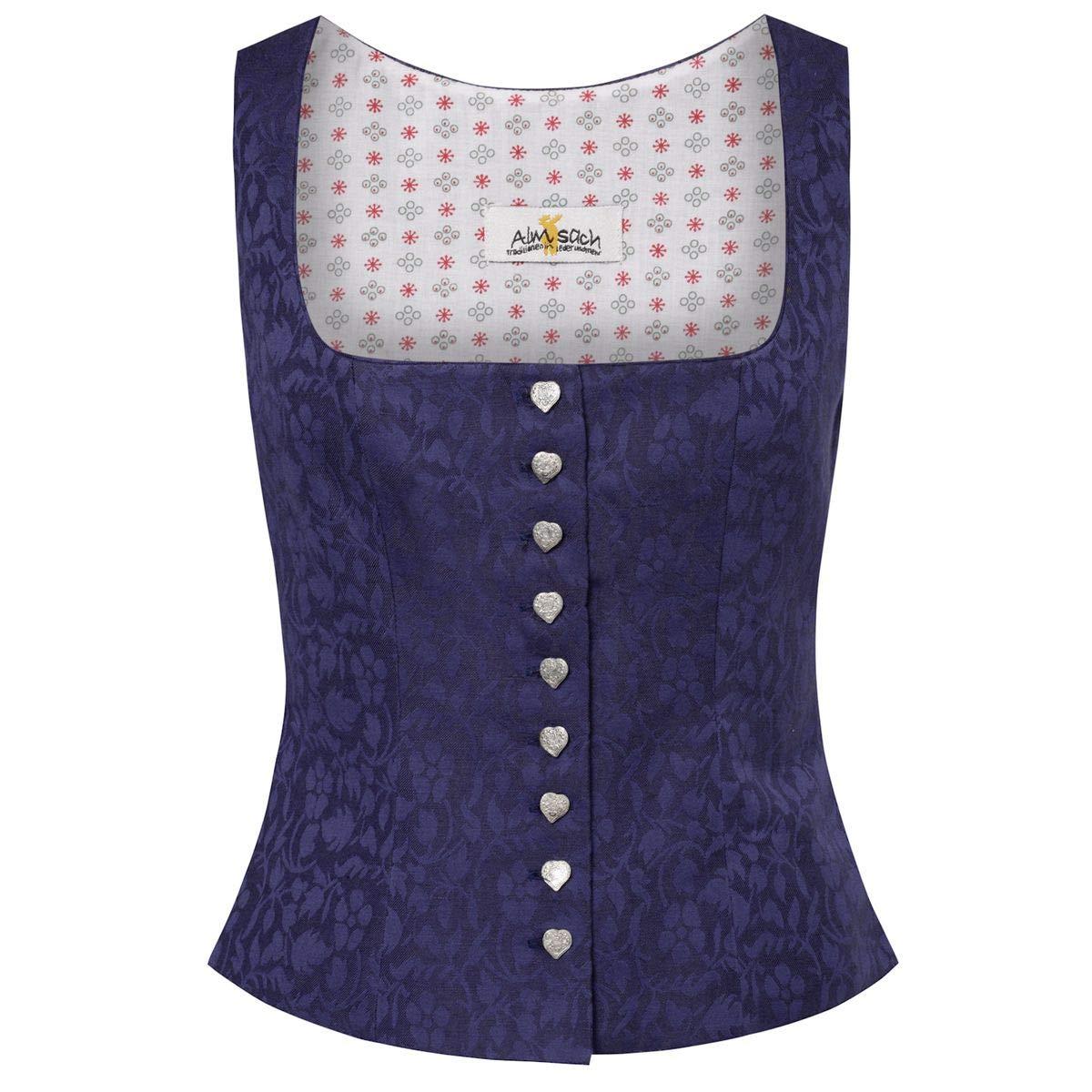 Almsach Damen Trachten-Mode Trachtenmieder Nina in Blau traditionell