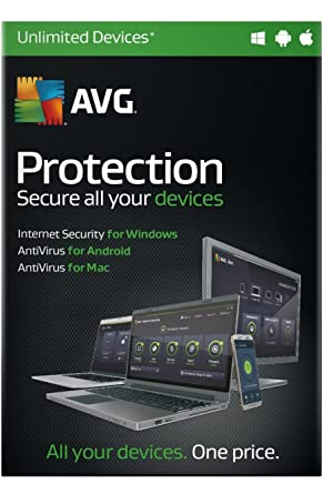 AVG Protection 2016 2 Year - Internet Security & AntiVirus for Unlimited  PCs, Tablets & phones
