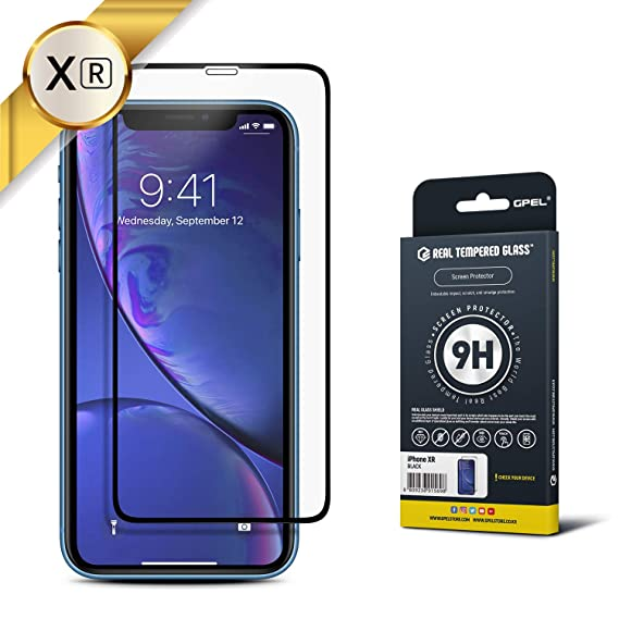 brand new f6b27 6ae60 iPhone XR Screen Protector Tempered Glass [New 2018] [Case-Friendly] HD  Clarity, Real Tempered Glass, 9H Hardness, Premium Japanese Asahi Glass by  ...