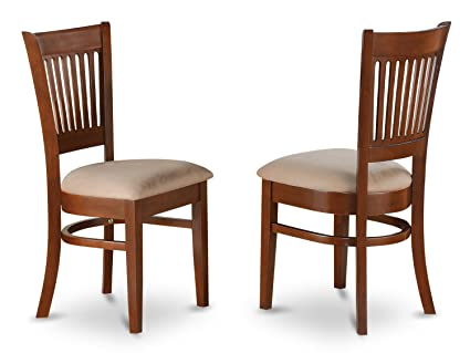 Delicieux East West Furniture VAC ESP C Microfiber Upholstered Seat Chairs For Dining  Room,