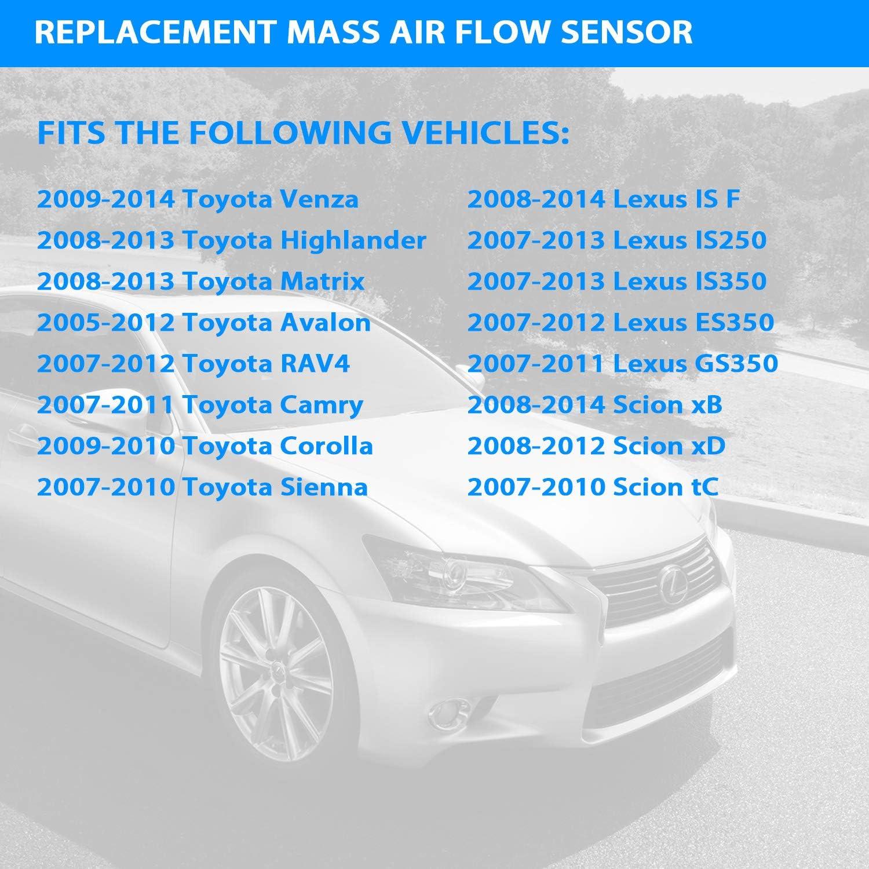 OEM Denso Mass Air Flow Sensor MAF Meter For Toyota Highlander Camry Rav4 Sienna