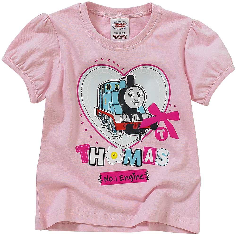 Thomas /& Friends Girls No.1 Engine Heart Print Short Sleeve T-Shirt