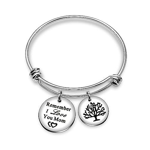 di prim'ordine cbf85 32d9c Bracciale rigido con doppio ciondolo, con albero della vita e scritta
