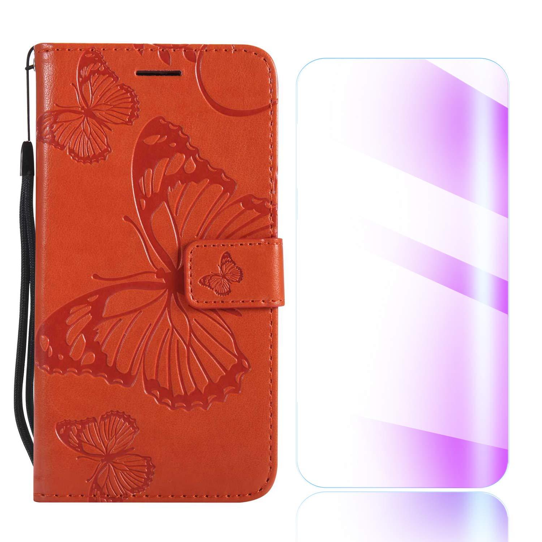 The Grafu Cover Galaxy Note 9, Portafoglio Anti-Graffio Cover in Pelle con Gratuito Pellicola Vetro Temperato, Custodia con Funzione di Supporto per Samsung Galaxy Note 9, Grigio
