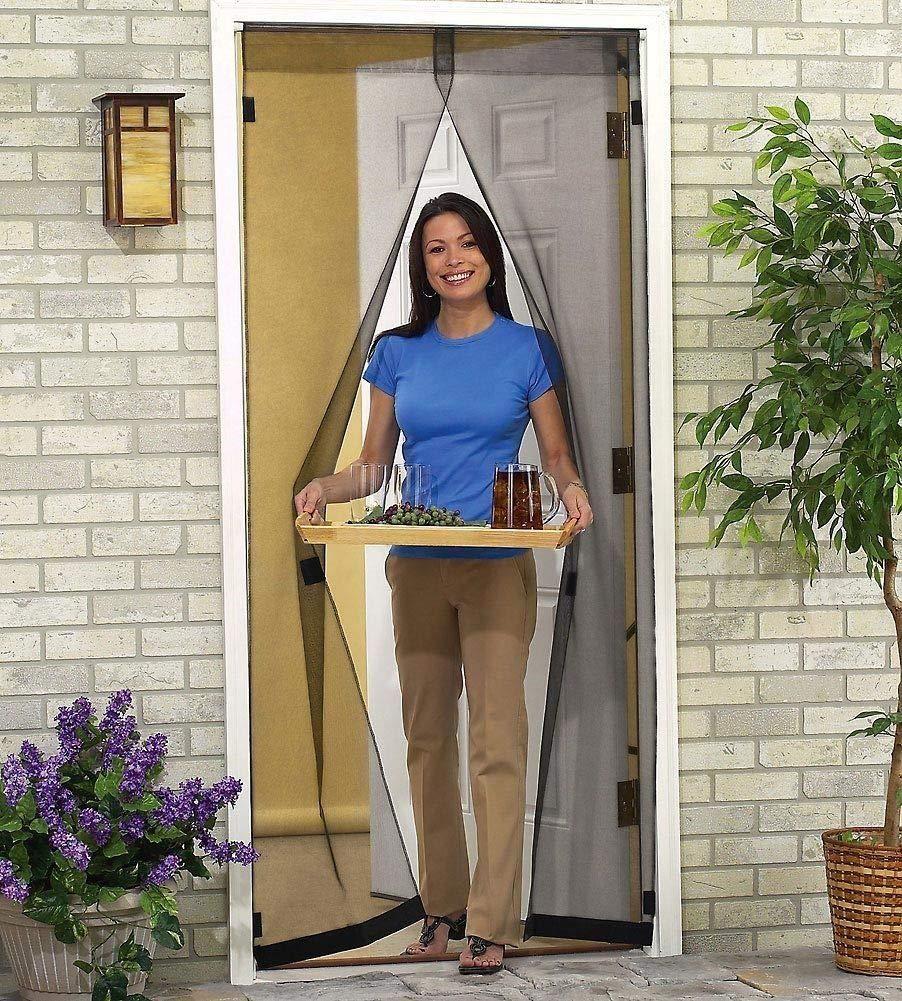J&T Instant Magnetic Screen Mosquito Net Mesh Bug Fly Pet Patio Camp Hands Free Door