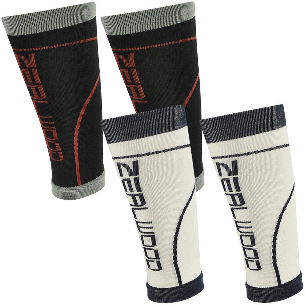 ZEALWOOD Calf Compression Sleeve, Leg Compression Socks for Compression Tennis Shorts,Calf Guard,Compression Travel Socks,Gym Training Sleeve