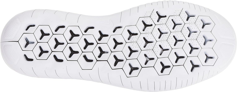 Nike Damen Free Rn Flyknit 2018 Sneakers Weiß White Black 001