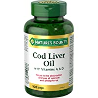 Nature's Bounty Cod Liver Oil with Vitamins A&D 100 count