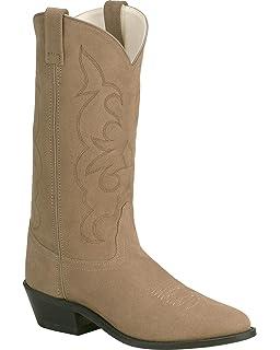 Amazon.com | Old West Men's Roughout Suede Cowboy Boot | Western