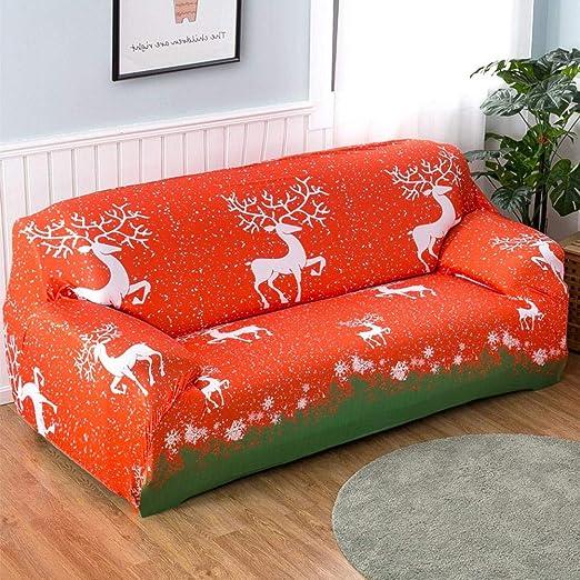 funda de sofá, Stretch Fundas de sofá rojo Navidad alce ...