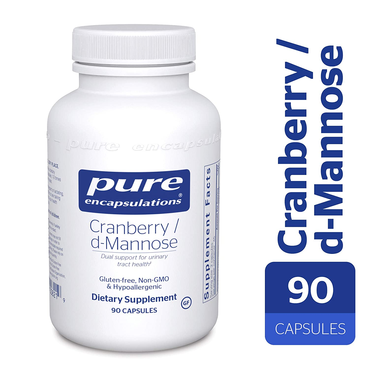 Pure Encapsulations – Cranberry d-Mannose – Hypoallergenic Supplement to Support Urinary Tract Health* – 90 Capsules