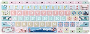 Keyboard Skin for Acer Chromebook Spin 11 311 CP311 511 512/Chromebook Premium R11 CB5-132T CB3-131/Chromebook R 13 CB5-312T/Chromebook 14 CP5-471/Chromebook 15 CB3-532 C910, Sakura