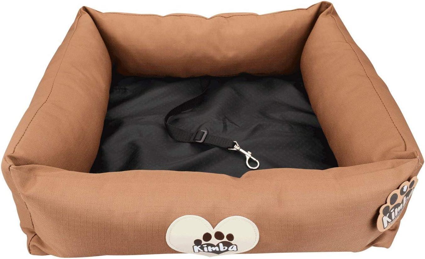 Peque/ño 50 x 50cm Kimba Cama de Viaje de Lujo y Lavable para Perro para Coche /& Hogar